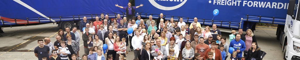 Anglia Freight group photo of staff and customers